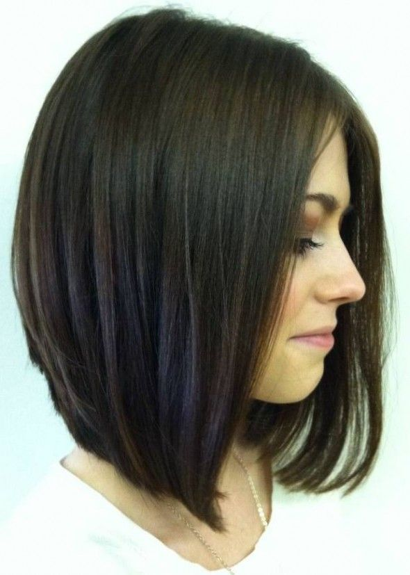 Long Straight Bob Haircut.