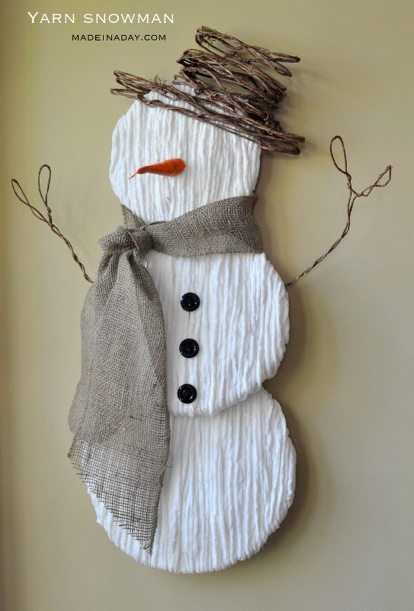 Cute Yarn Snowman Cute Yarn Snowman Wall Art.