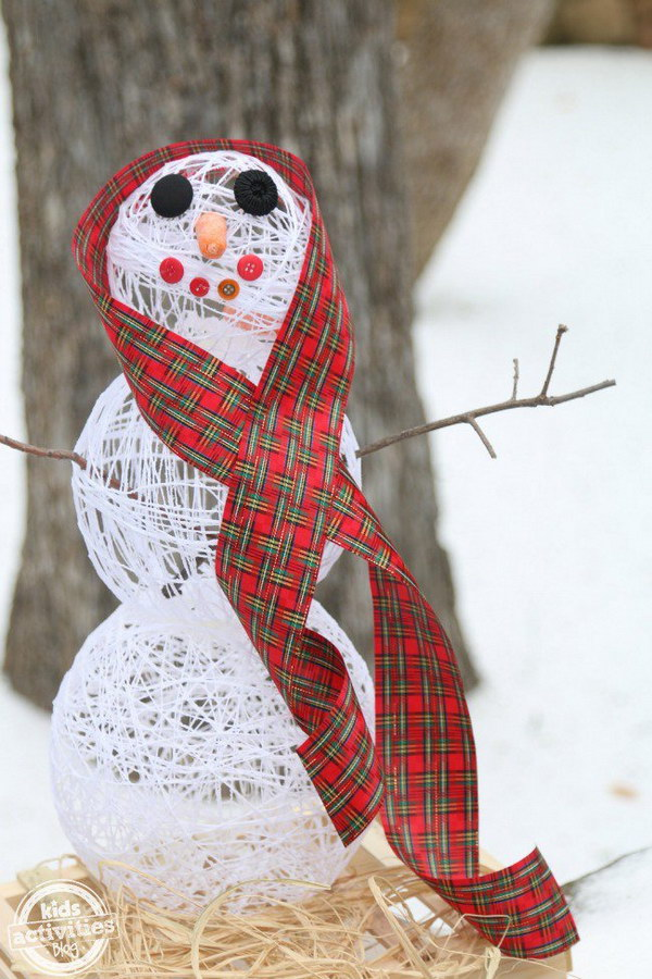 DIY Sugar String Snowman.