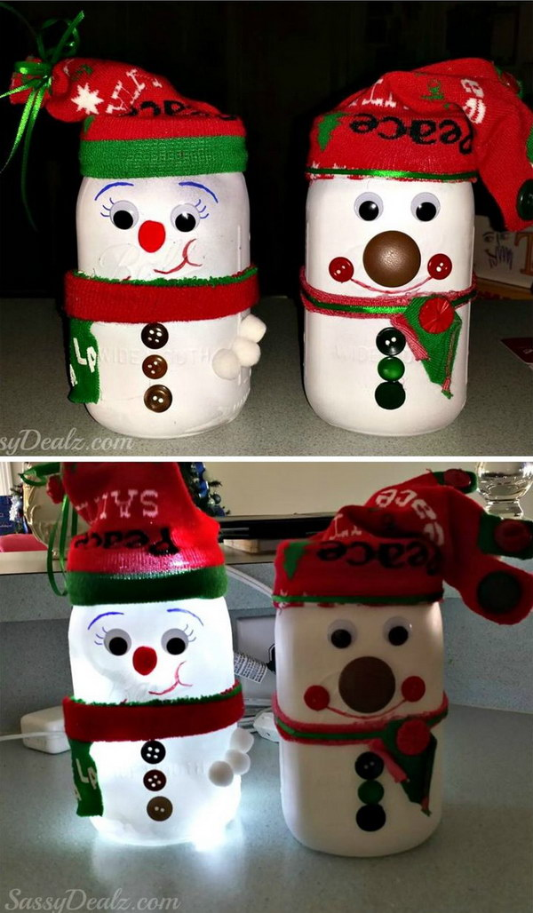 25 diy snowman craft ideas tutorials for Arts and crafts christmas decoration ideas