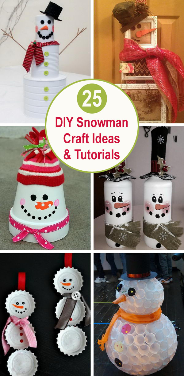 25+ DIY Snowman Craft Ideas & Tutorials.