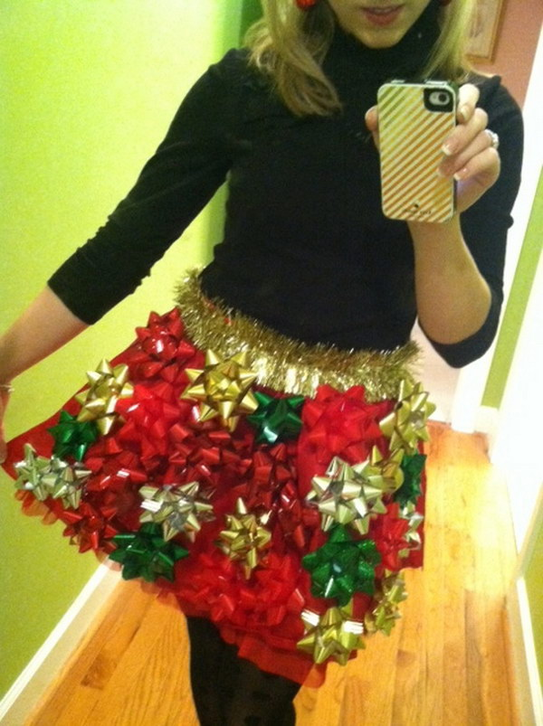 DIY Skirt of Bows.