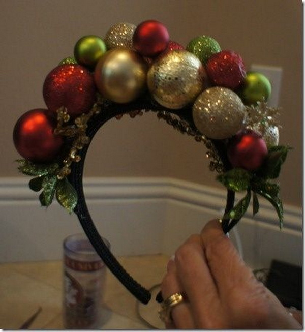DIY Ornament Headband .
