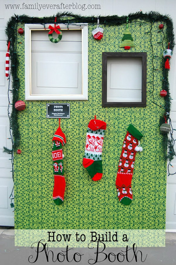 DIY Tacky Christmas Sweater Party Photo Booth.
