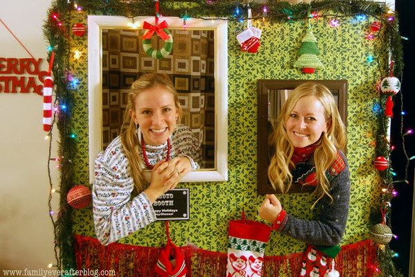 diy tacky christmas sweater party photo booth