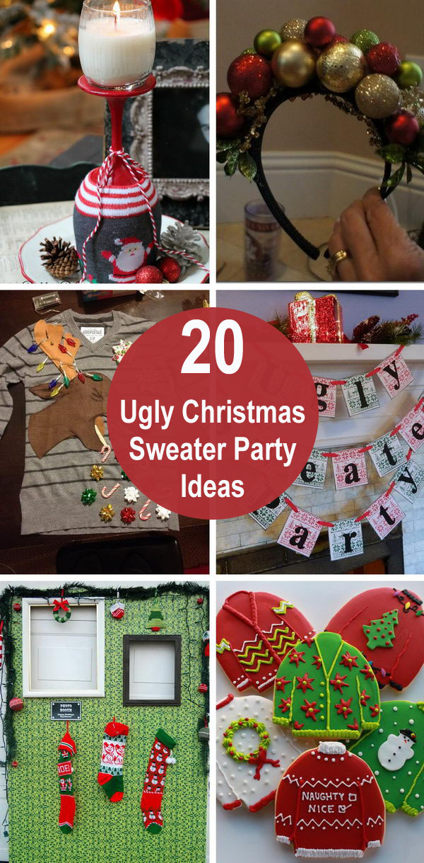 Ugly Christmas Sweater Ornaments.