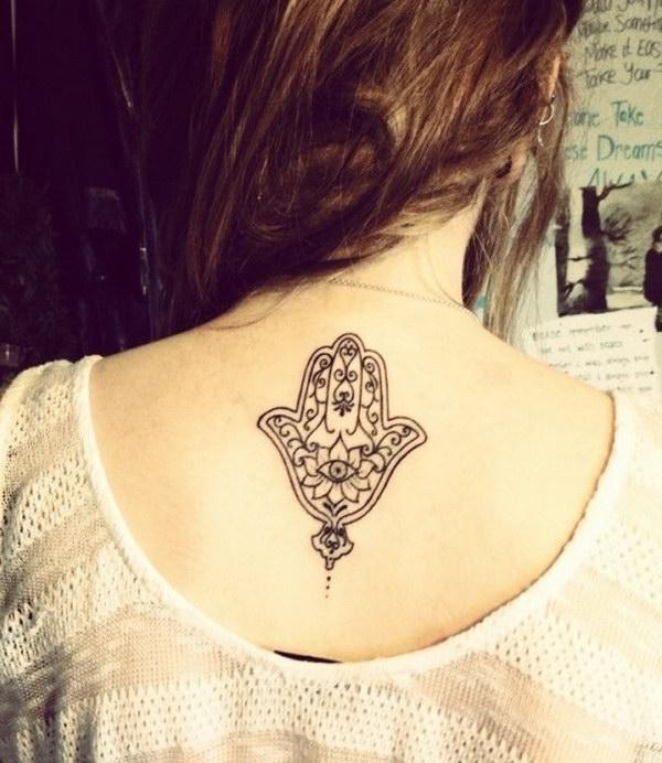 Elegant Hamsa Tattoo