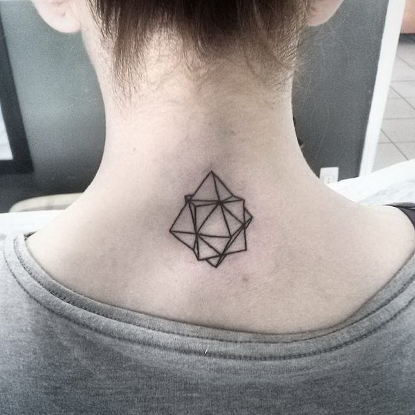 Unique Octahedron cube Tattoo