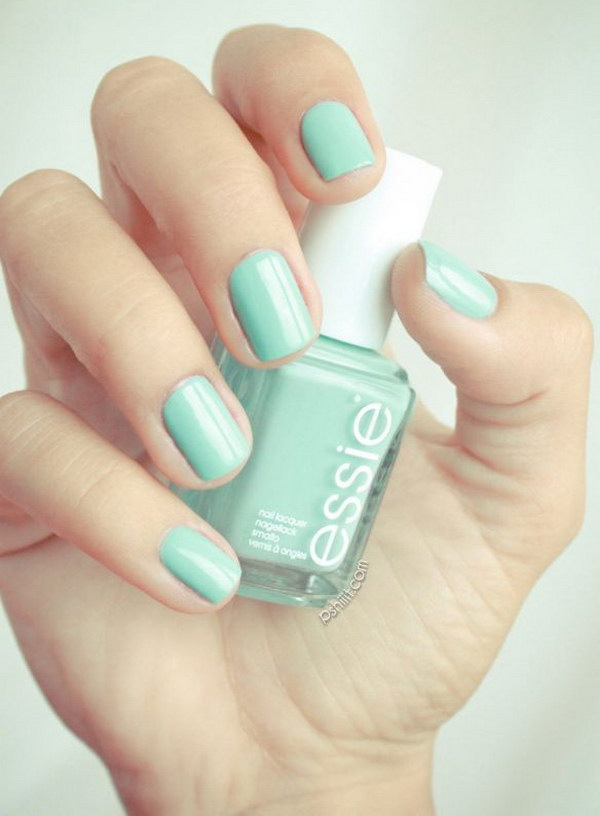 Mint Candy Apple Nails