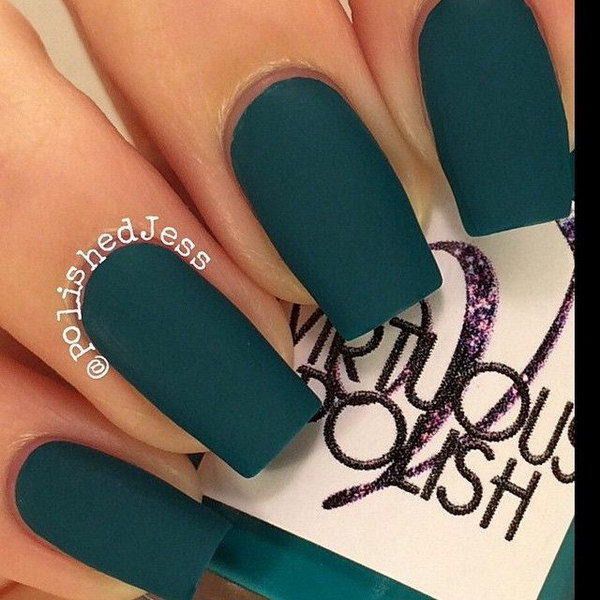 Pretty Emerald Green Nail Polish