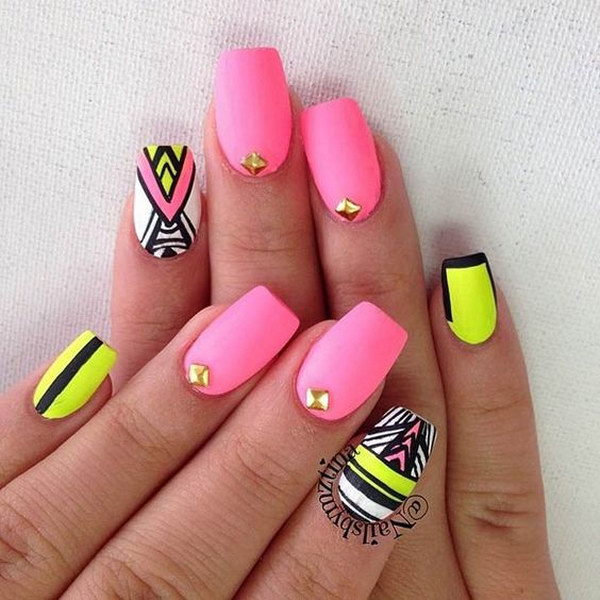 Best Summer Acrylic Nail Art Design Ideas For 2016: 60 Pretty Matte Nail Designs