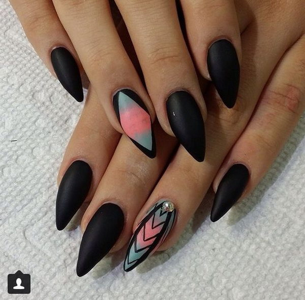 All Matte Ombre Nail Design.