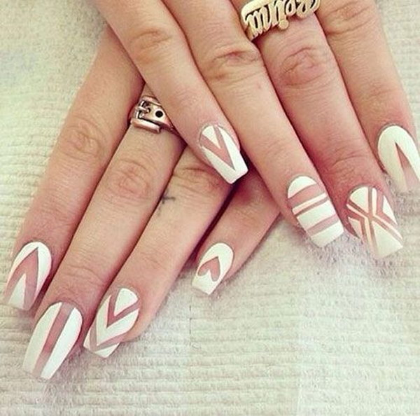Clean & White Matte Nails.