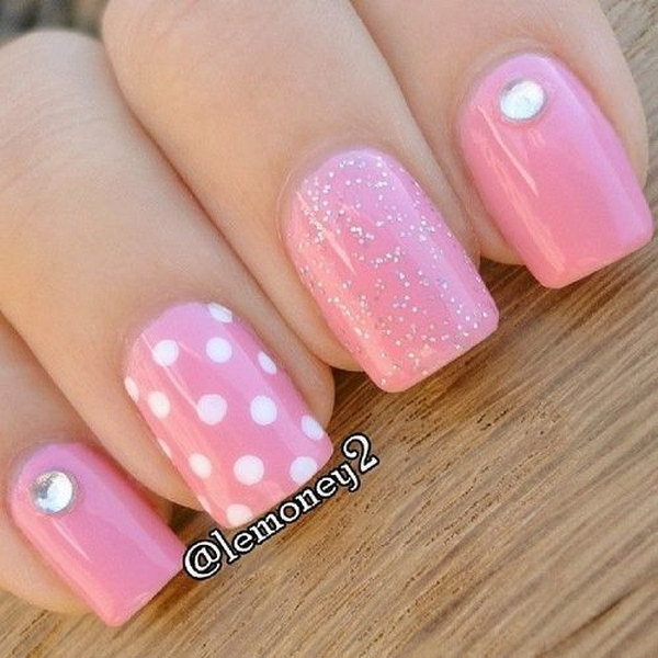 White and pink nail designs image collections nail art and nail 50 lovely pink and white nail art designs polka dots pink white nails prinsesfo image collections prinsesfo Choice Image