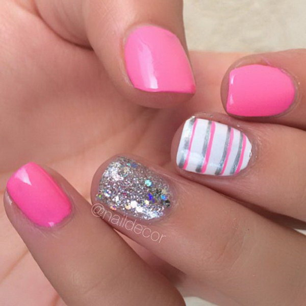 Ideas For Short Nails Easy Nail Art: 35+ Cute Nail Designs For Short Nails