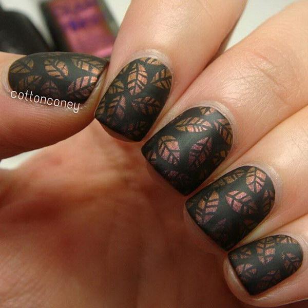 Brown Fall Nail Designs