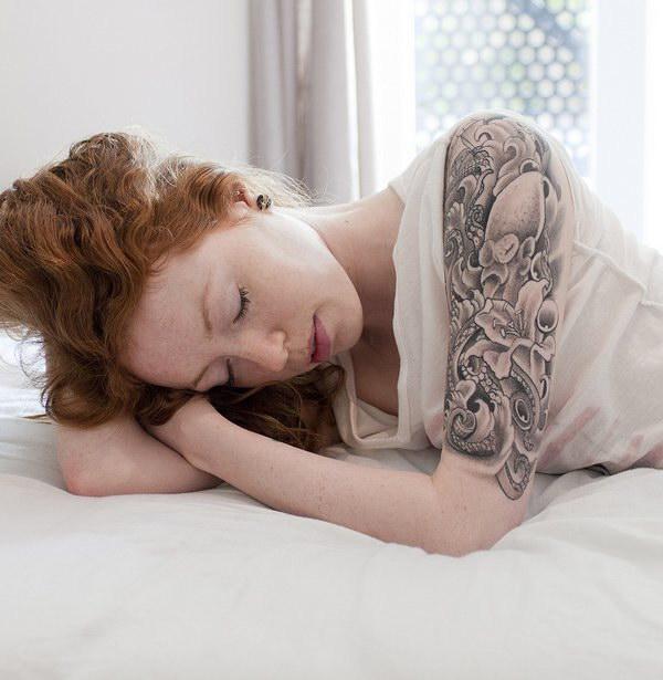Half Sleeve Tattoo Design for Women.