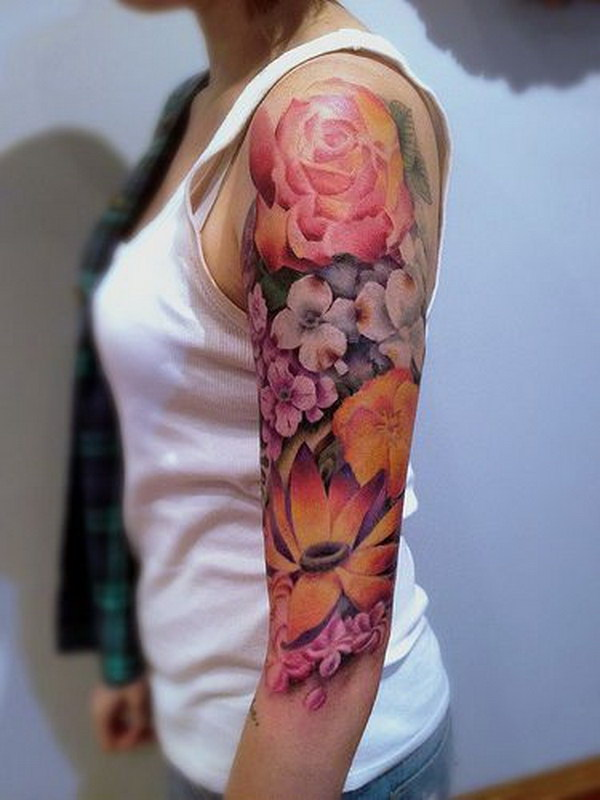 40 cool and pretty sleeve tattoo designs for women for How much are white tattoos