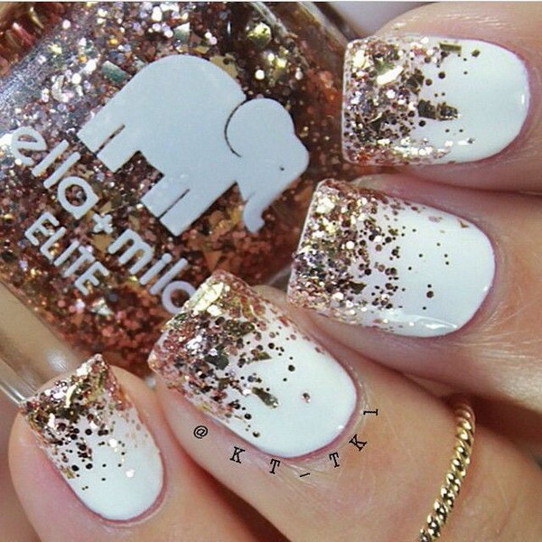 White and gold nail designs images nail art and nail design ideas nail designs with gold and white gold and white nail art design nail designs with gold prinsesfo Choice Image