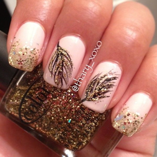 Simple Elegant Fall Nail Designs: 35 Elegant And Amazing White And Gold Nail Art Designs