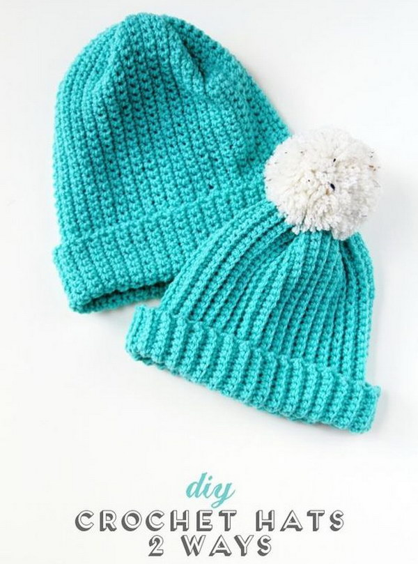 Easy Crochet Hat Free Pattern