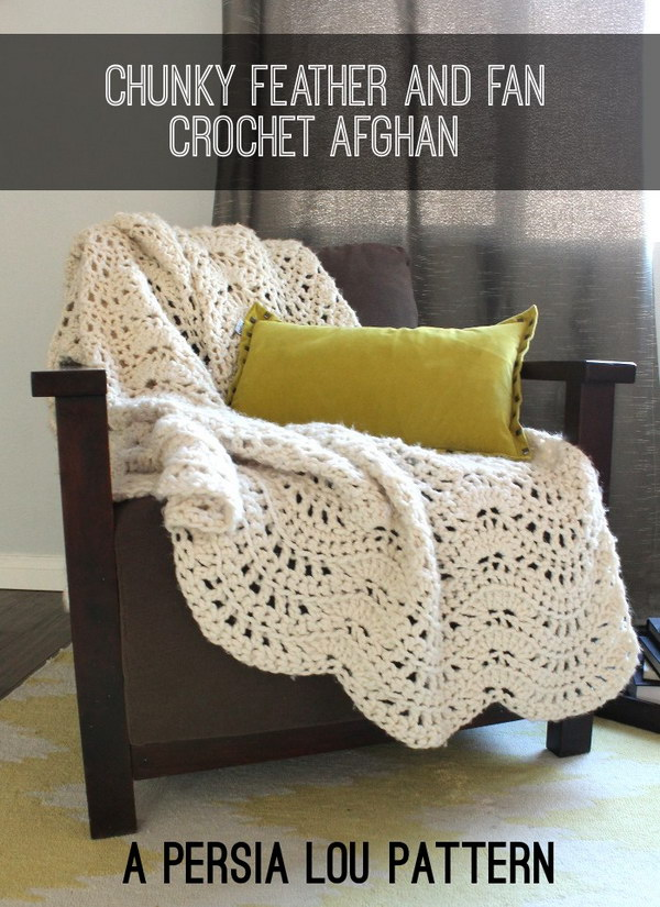 Pretty Crocheted Afghan Free Pattern