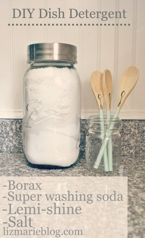 Easy DIY Dishwasher Detergent.