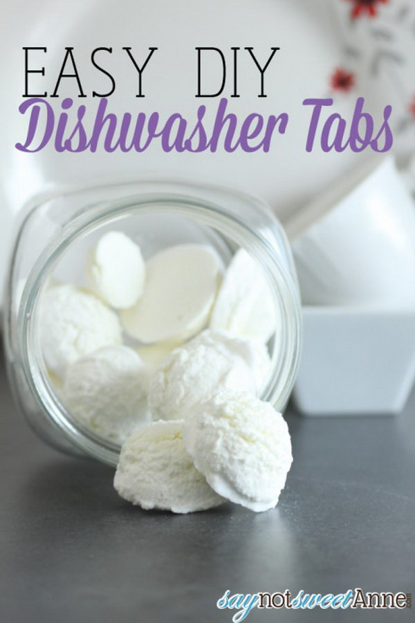 Easy DIY Dishwasher Tabs.