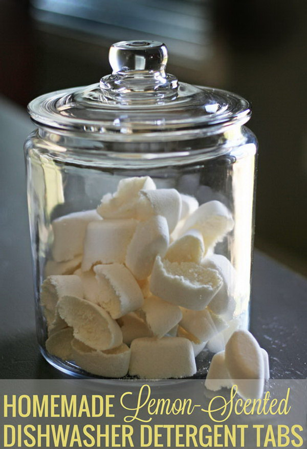 Homemade Dishwasher Detergent Recipe.