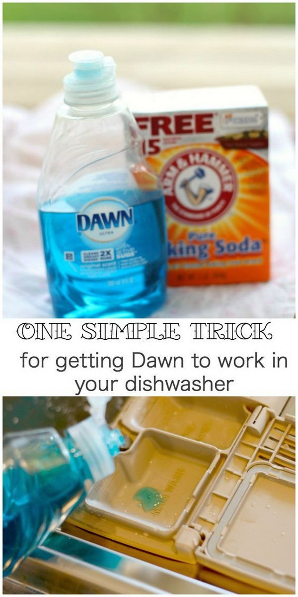 2 Ingredient Homemade Dishwasher Detergent.