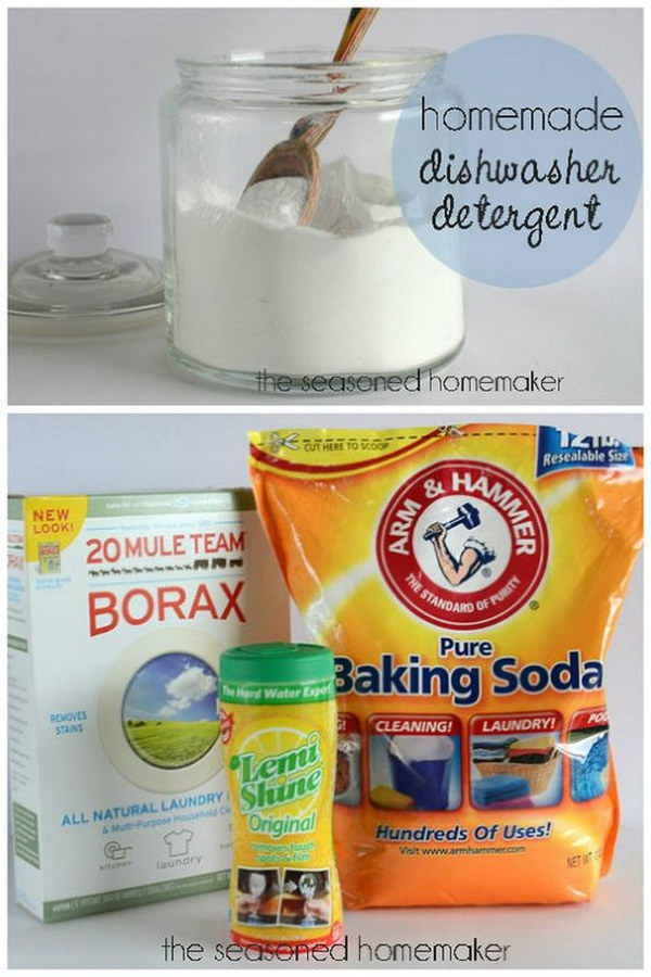 Homemade Dishwasher Detergent for Spot Free Dishes.