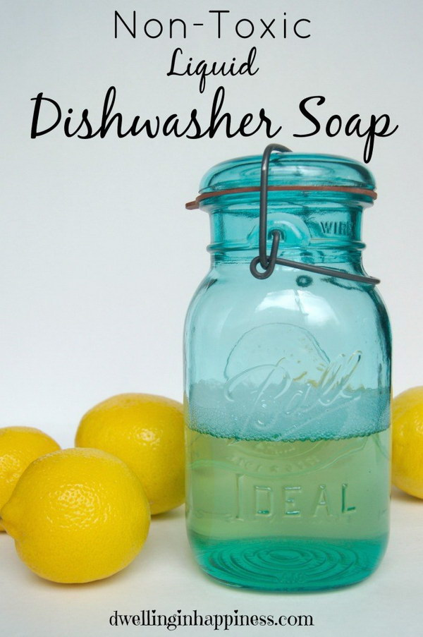 Non Toxic Liquid Dishwasher Soap.