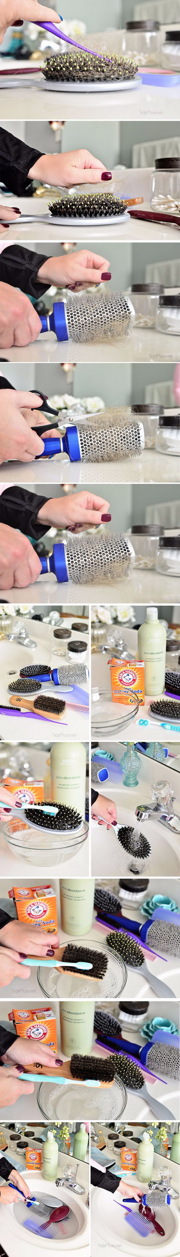 10 Minutes Cleaning Ideas For Your Hairbrushes.