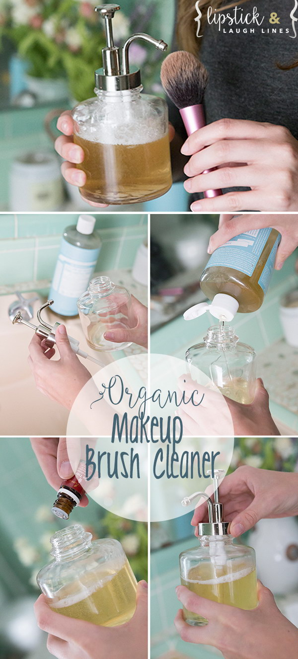 Homemade Organic Makeup Brush Cleaner.