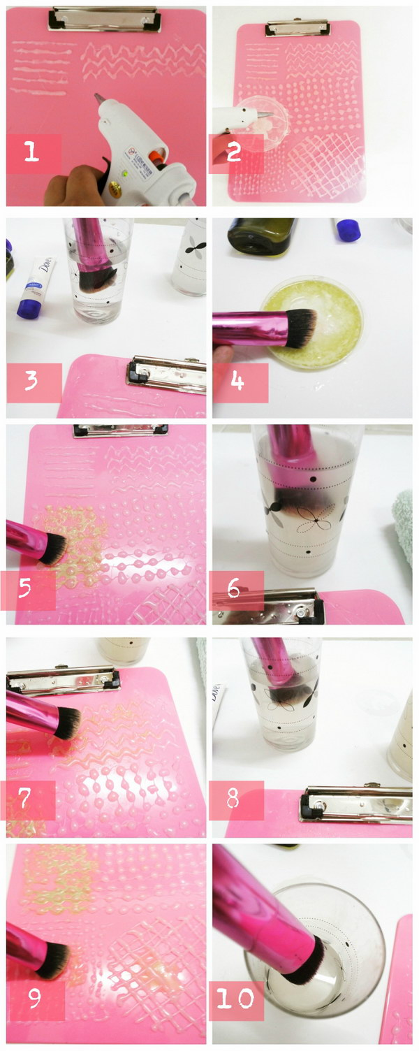 Make Your Very Own Makeup Brush  Cleansing Board.