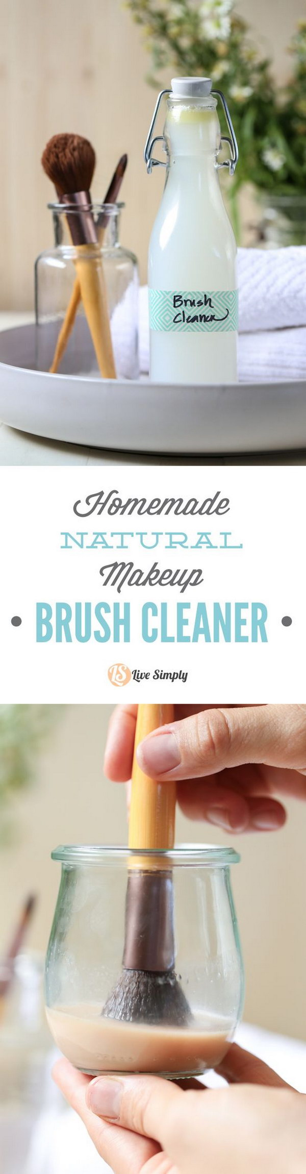 Homemade Natural Makeup Brush Cleaner.
