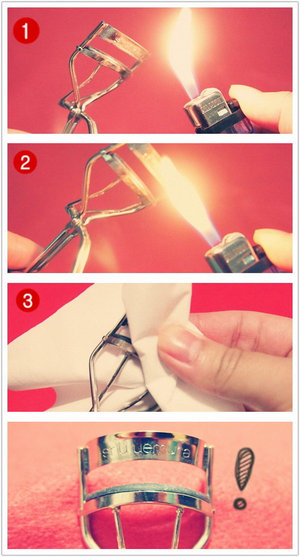 Clean Your Eyelash Curler With A Lighter.