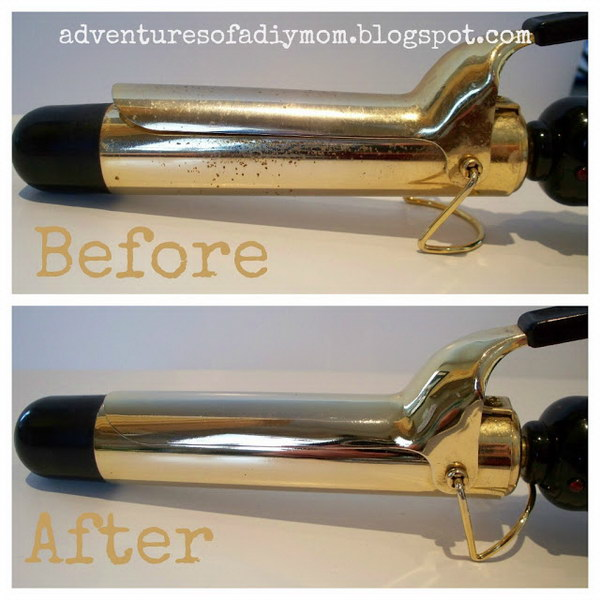 Clean Your Curling Iron With Steel Wool.