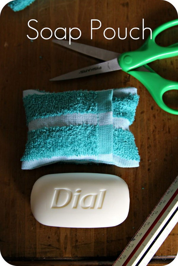 Pack your soap and wash cloth together by making this simple case.