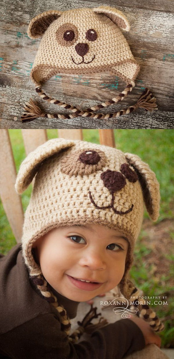 Crochet Pattern For Dog Hat With Ear Holes : 25 Easy Crochet Hats with Free Tutorials