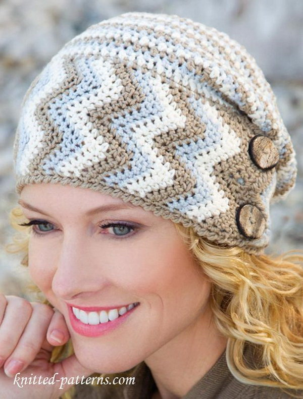Women's Crochet Hat with Free Pattern.