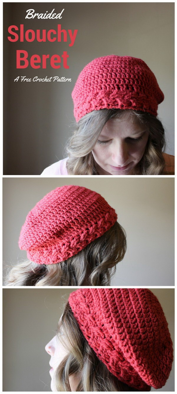 Braided Slouchy Beret.