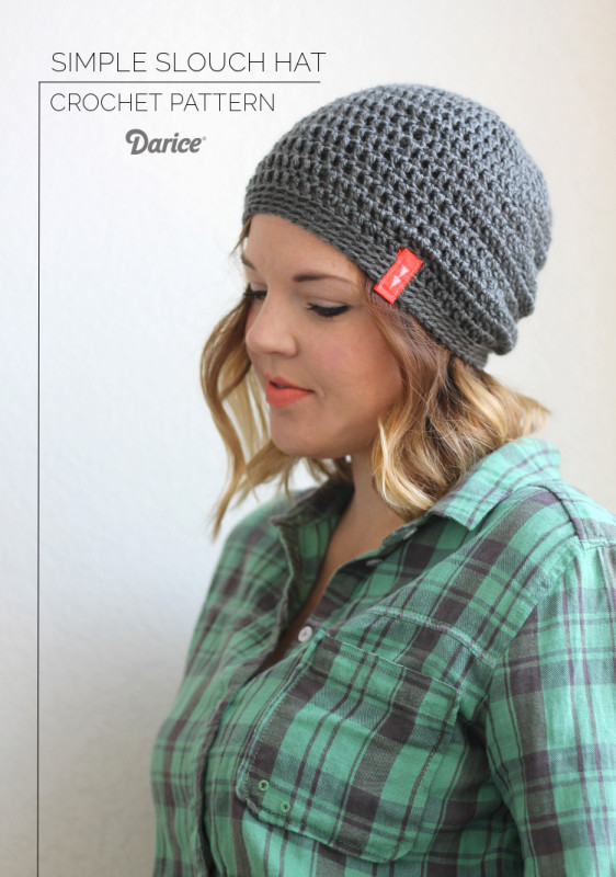 Simple Slouch Crochet Hat Pattern.