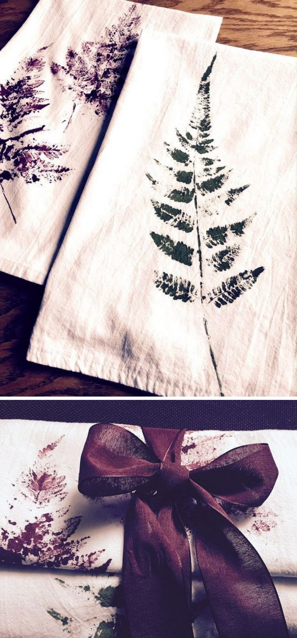 Fern Printed Tea Towels.