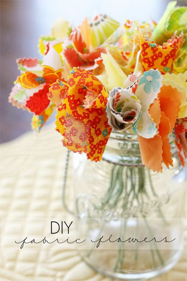 DIY Fabric Flowers.