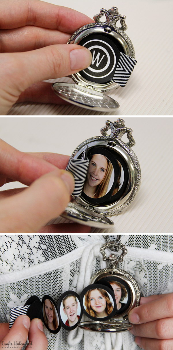 Mini Album in a Pocket Watch.