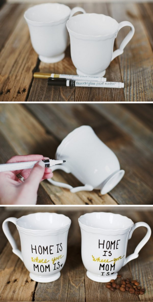 DIY Mother's Day Mugs.