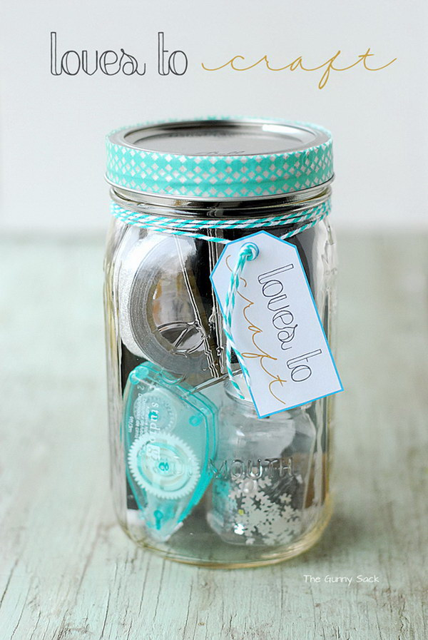 Gifts in A Jar for Mom.