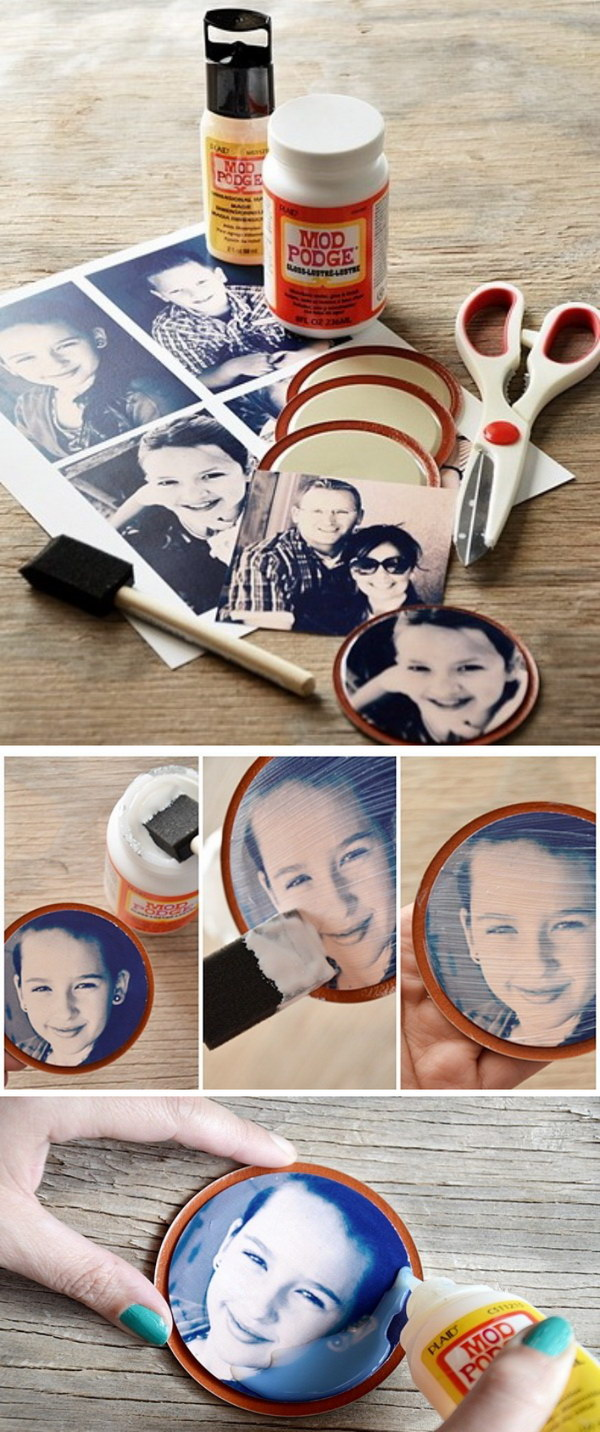 Jar Lid Picture Magnets.