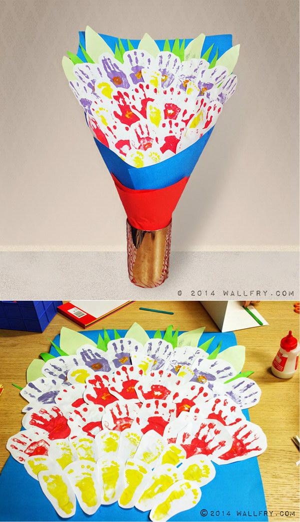 Hand Print Bouquet.